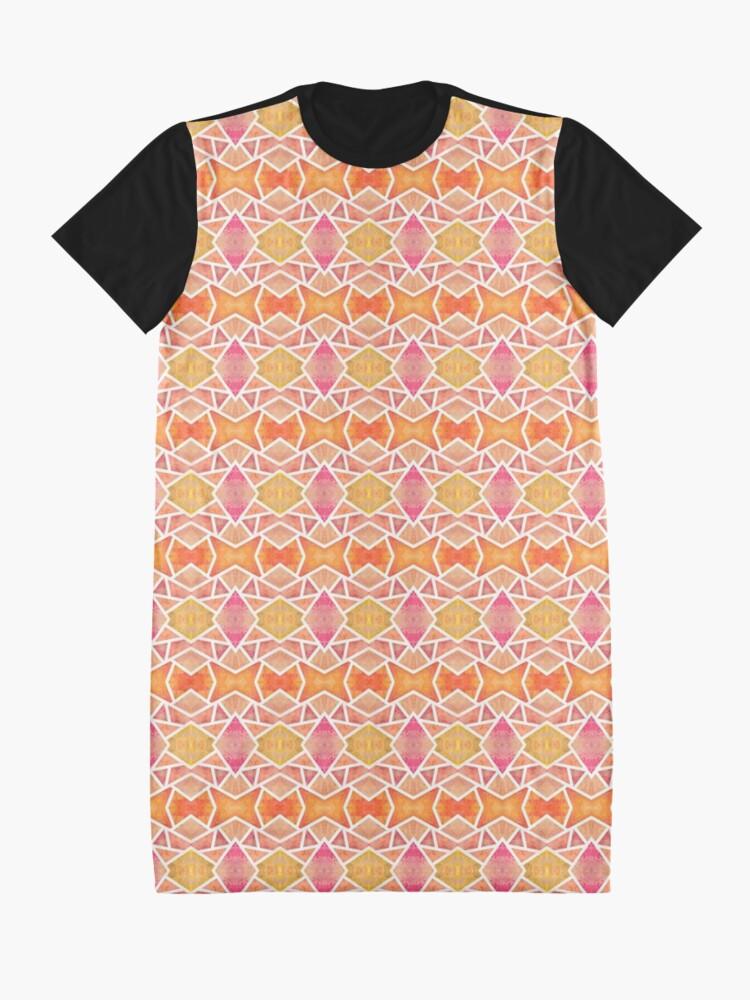 Robe t-shirt ''Mosaïque Orange ': autre vue