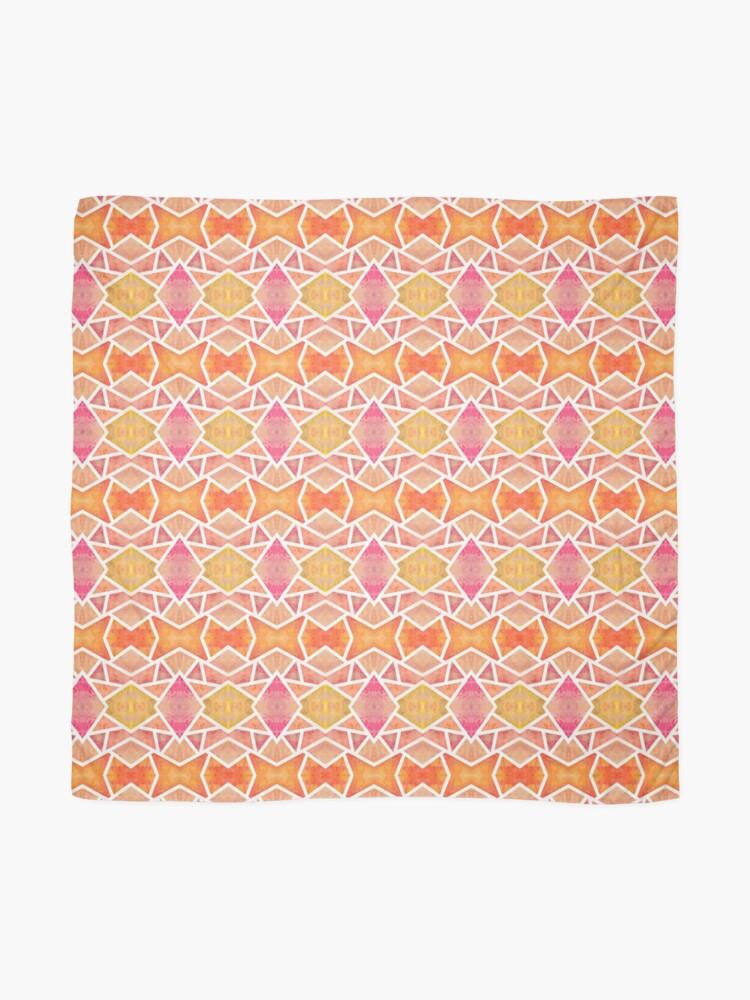 Foulard ''Mosaïque Orange ': autre vue