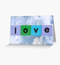 love against clouds Greeting Card
