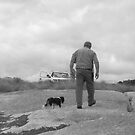 Dale Wells and dog by Andrew  Makowiecki