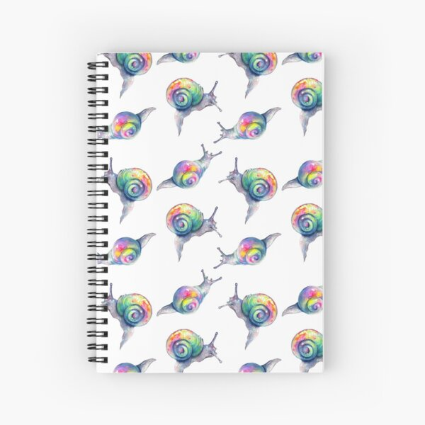 Rainbow Snails Hand-Painted Pattern Spiral Notebook