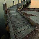 Jetty Flinders Island by Andrew  Makowiecki