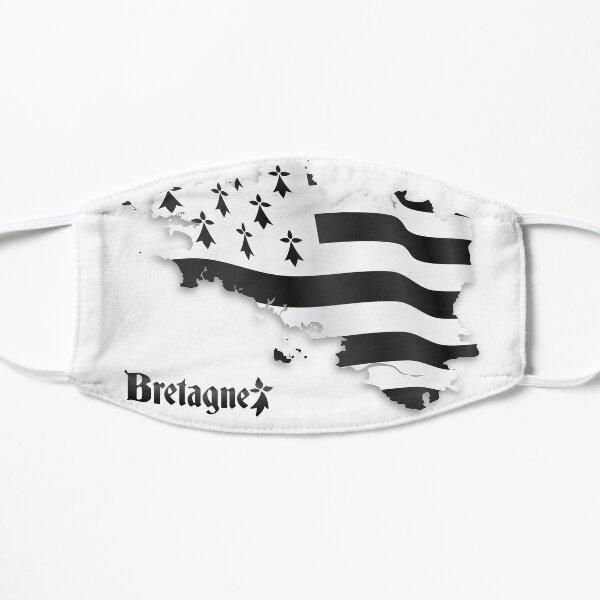 Bretagne drapeau carte Masque sans plis