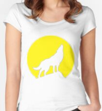 She-wolf inverted Women's Fitted Scoop T-Shirt