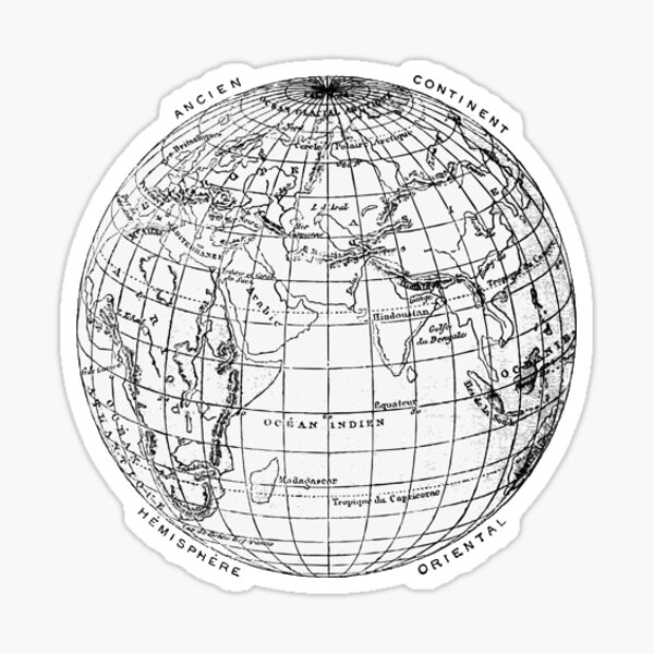 Vintage globe  Sticker