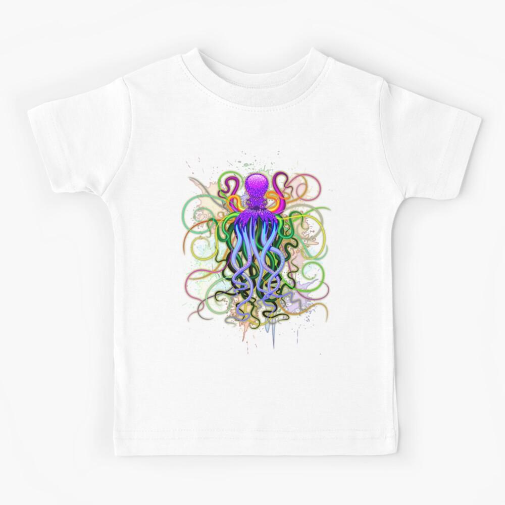 Pulpo de luminiscencia psicodélica Camiseta para niños