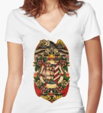 Spitshading 001 Women's Fitted V-Neck T-Shirt