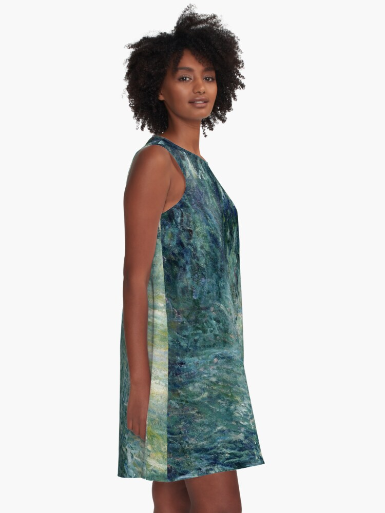 Alternate view of Monet Morning on the Seine Fine Art A-Line Dress