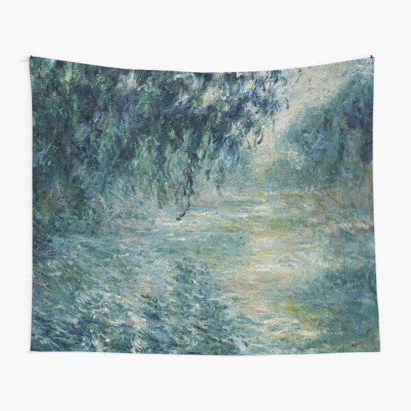 Monet Morning on the Seine Fine Art Tapestry