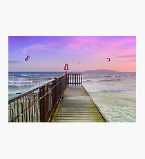 A perfect day for kite surfing Photographic Print