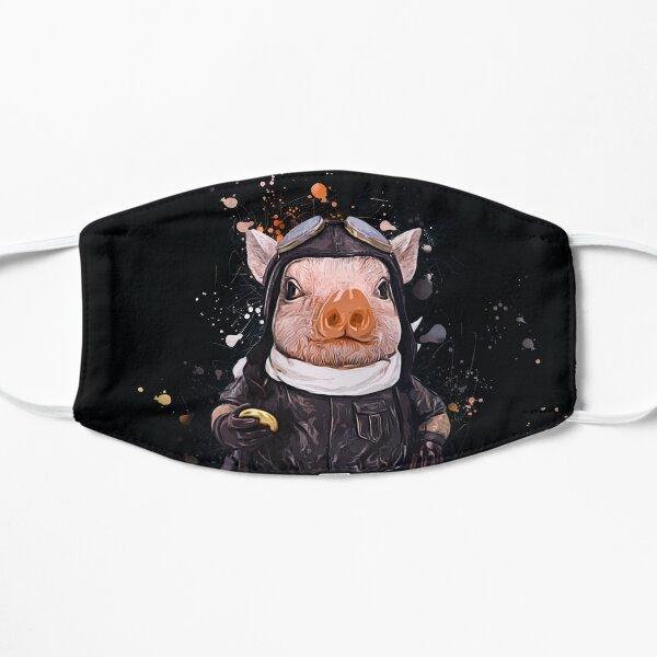 Steampunk Aviator Pig Flat Mask