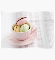 Macarons in a cup Poster