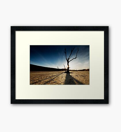 Silhouette at Deadvlei Framed Print