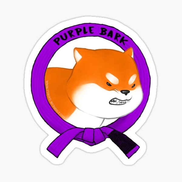 Purple Bark Sticker