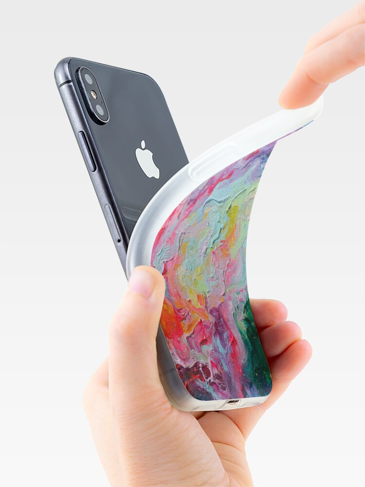 Alternate view of Elements - Spectrum Abstraction iPhone Case & Cover