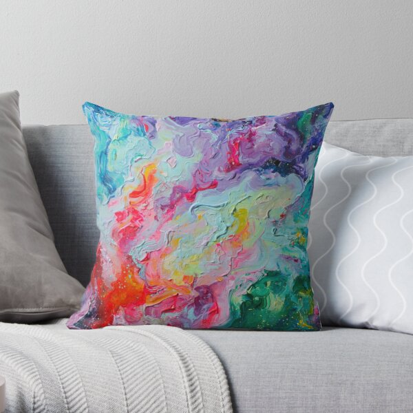 Elements - Spectrum Abstraction Throw Pillow