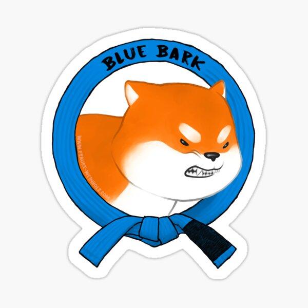 Blue Bark Sticker