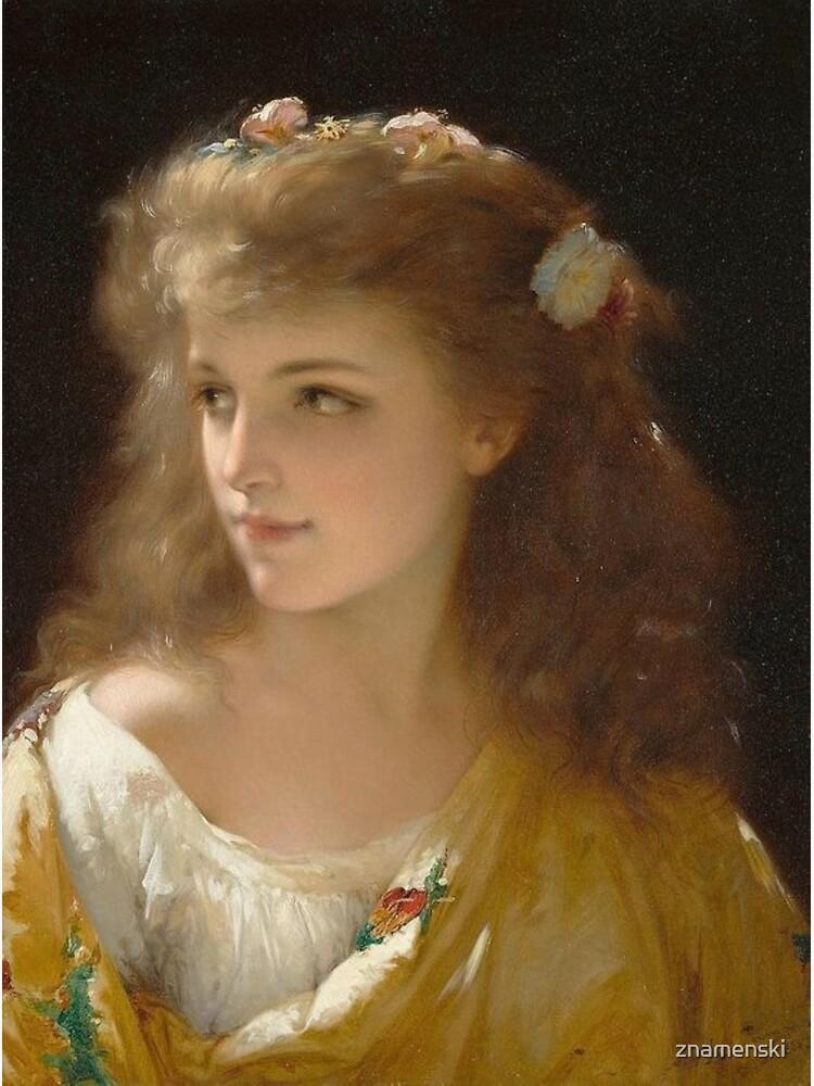 Portrait of a Young Woman Pierre Olivier Joseph Coomans by znamenski