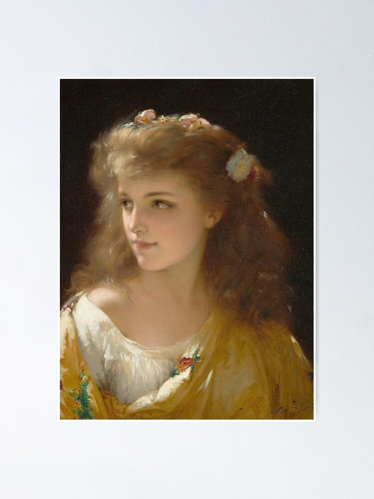 Alternate view of Portrait of a Young Woman Pierre Olivier Joseph Coomans Poster