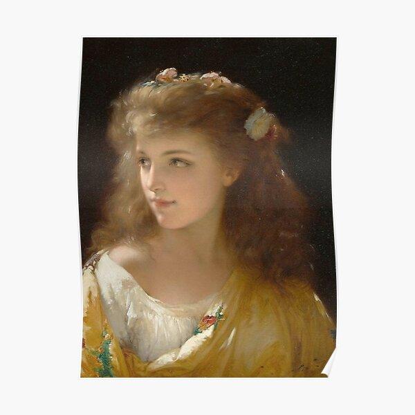 Portrait of a Young Woman Pierre Olivier Joseph Coomans Poster