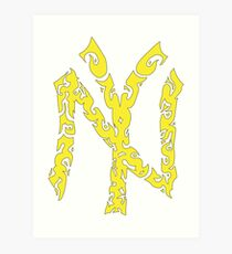 Yankees Tribal Yellow w/Black Art Print