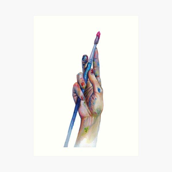 Painter's Hand Art Print