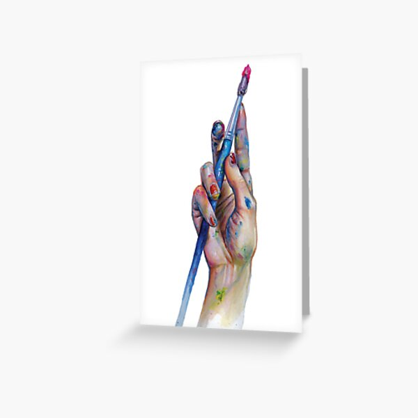 Painter's Hand Greeting Card