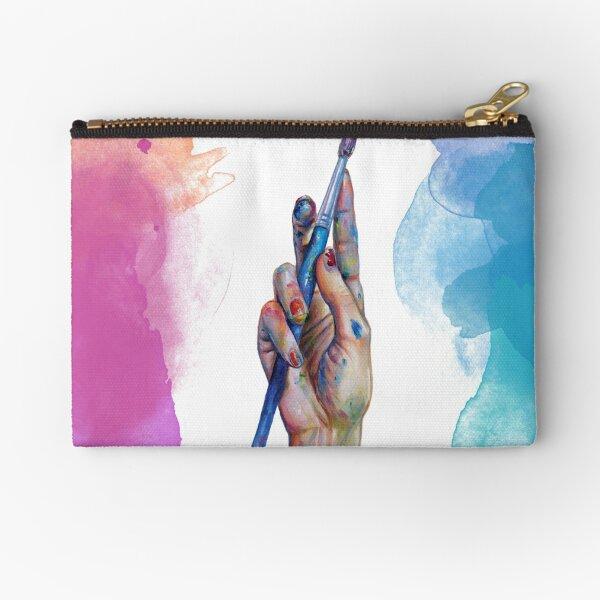 Painter's Hand Zipper Pouch