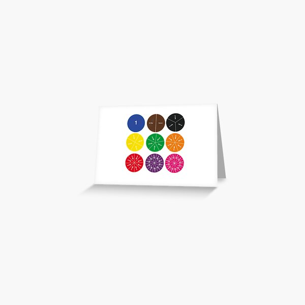 Fraction Circle Greeting Card