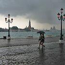 Rain in Venice by John Lines