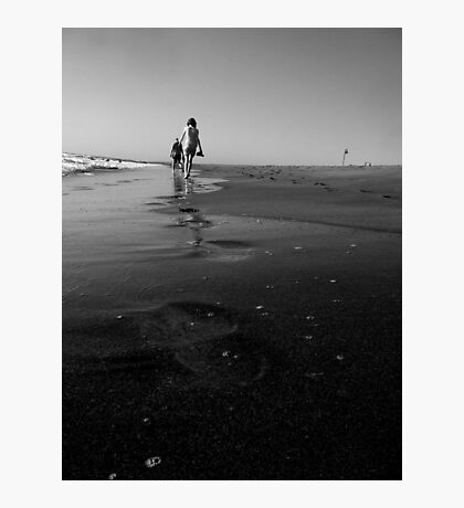 Footsteps in the sand Photographic Print