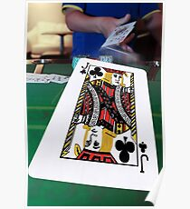 poker player throwing in the cards Poster