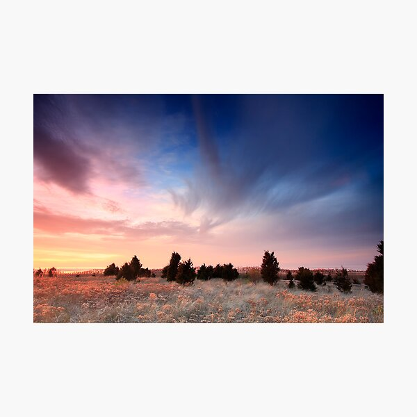 Cape Cod Blue and Gold Sunset Photographic Print