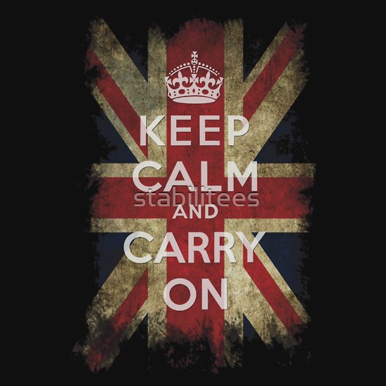 TShirtGifter presents: Vintage Keep Calm and Carry On and Union Jack Flag