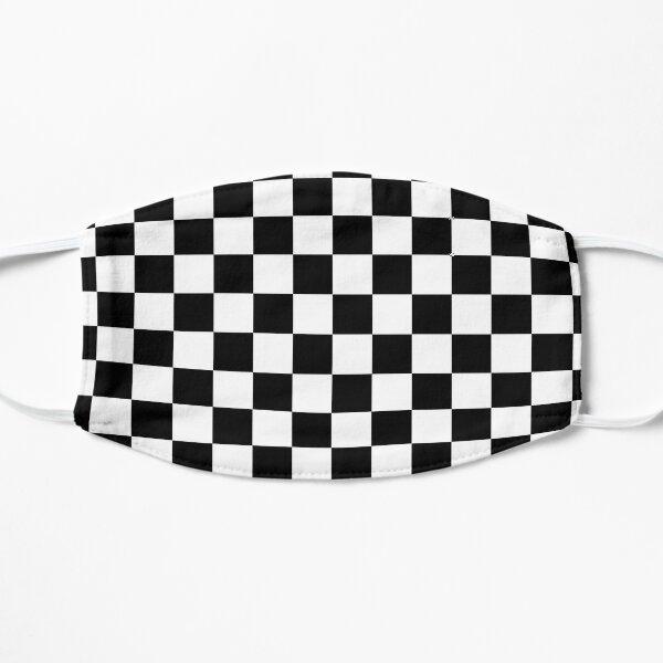 damier, drapeau de course automobile Masque sans plis