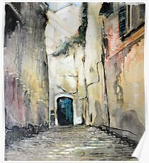 Cobble stones alley Poster