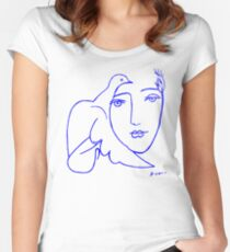 Dove Face by Picasso Women's Fitted Scoop T-Shirt