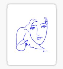 Dove Face by Picasso Sticker