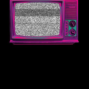 Old Static Television by MrMegabyte