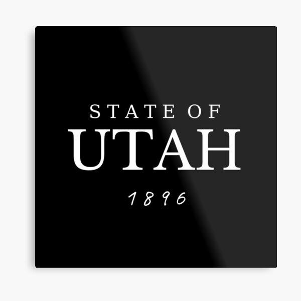 The State of Utah 1896 Metal Print