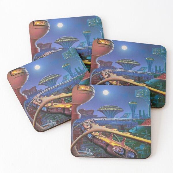 Retro Futurism City Coasters (Set of 4)