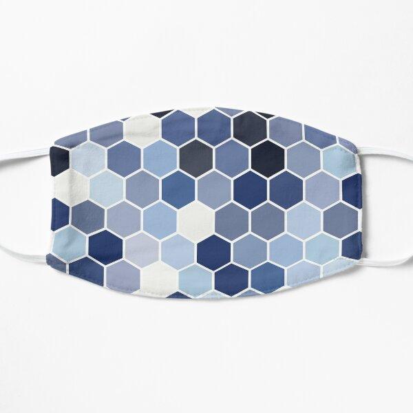 HONEYCOMB HEXAGON BLUE Flat Mask