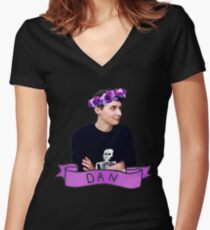 Dan  Women's Fitted V-Neck T-Shirt