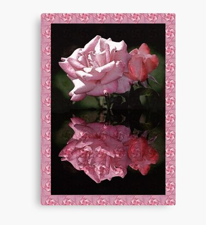 Passionately Pink Rose Duo Canvas Print
