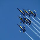 Blue Skies For Blue Angels by Barrie Woodward