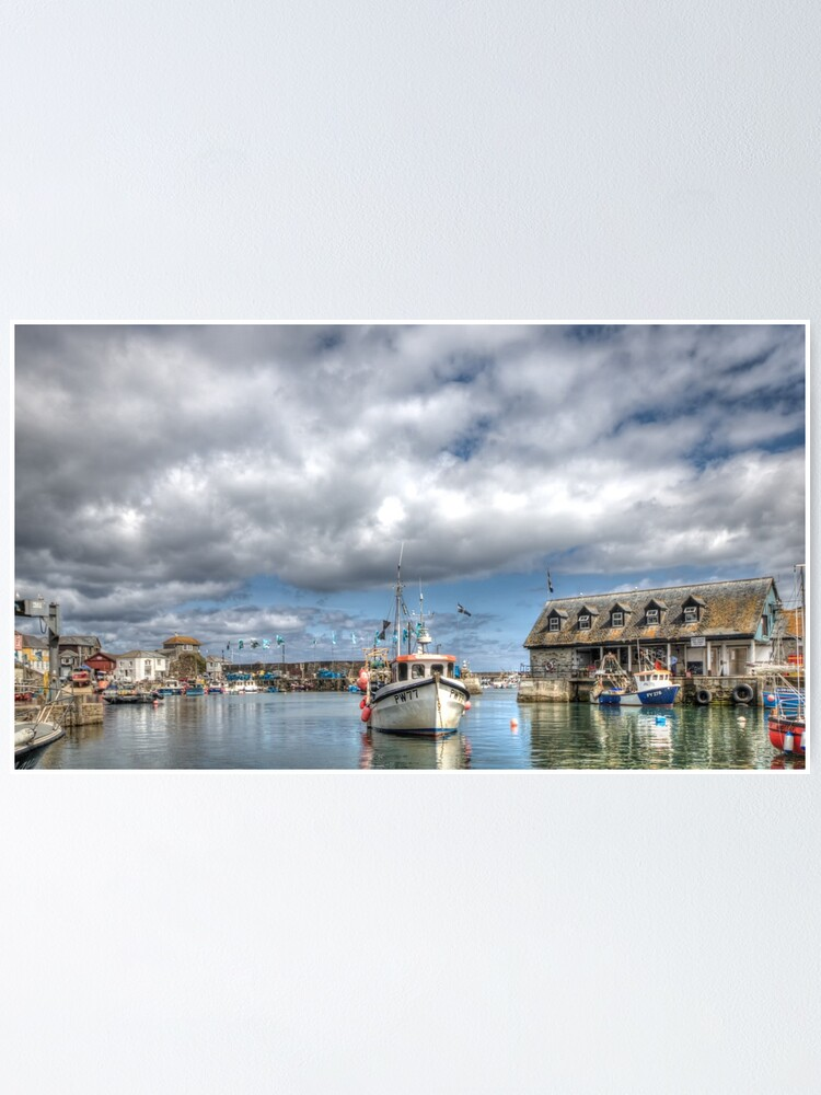 Alternate view of Mevagissey Harbour - 12/07/19 Poster