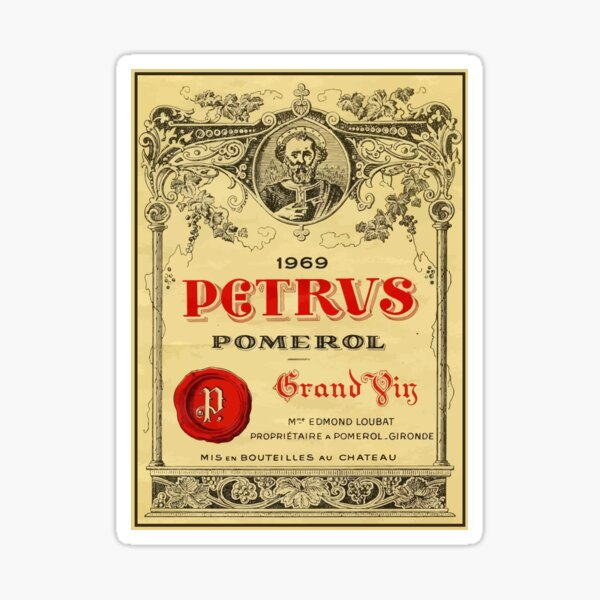 1969 Petrus Bordeaux Sticker