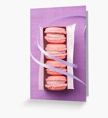 Pink macarons Greeting Card