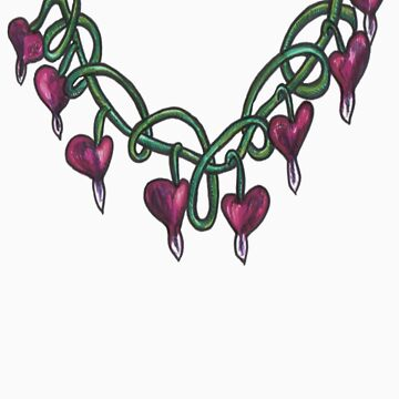 bleeding heart necklace by lilbat