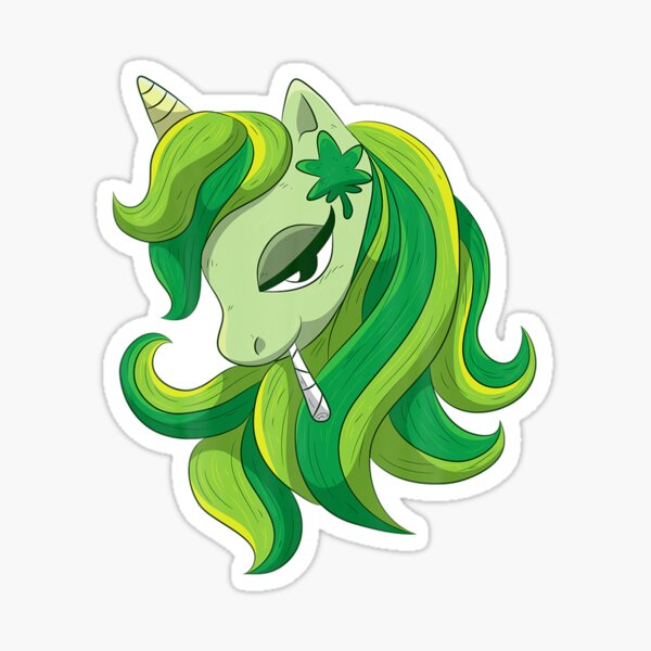 Weed Unicorn Stickers Redbubble